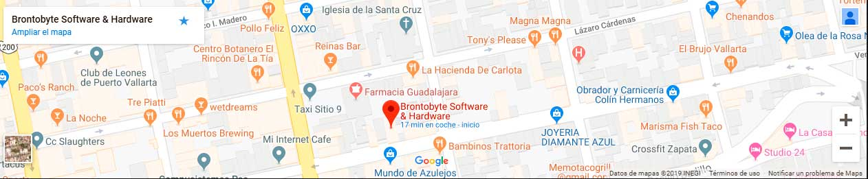 Brontobyte Software and Hardware Map