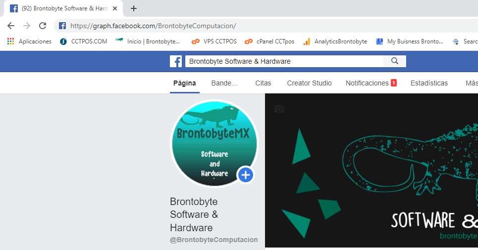 El id de mi página de Facebook